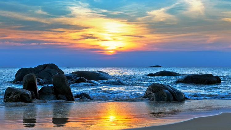 夕陽西下,引吭高歌